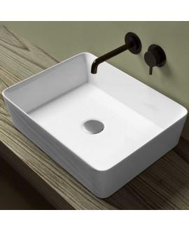 lavabo cuadrado sobre encimera