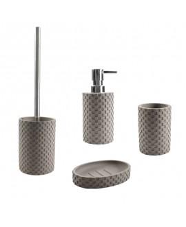 accesorios baño gris piedra