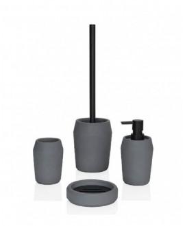 pack accesorios gris cemento negro