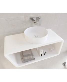 lavabo blanco mate