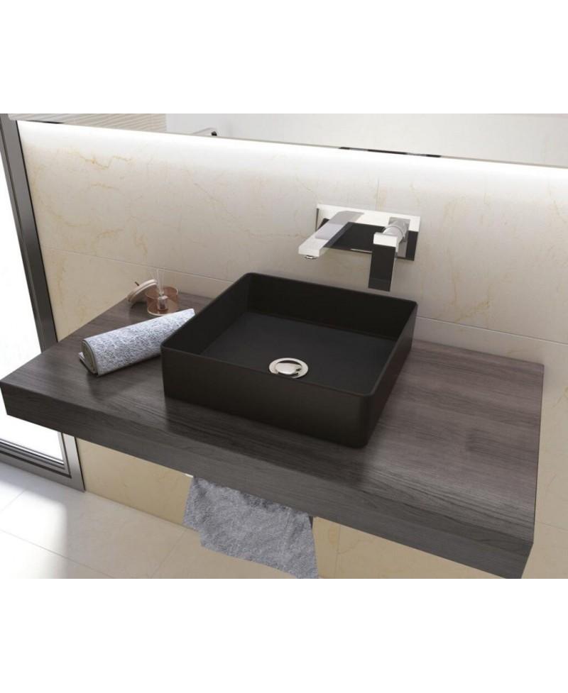 lavabo negro mate