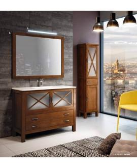 mueble baño madera natural