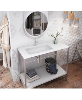 lavabo desplazado para mueble