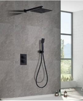 equipo ducha empotrado negro