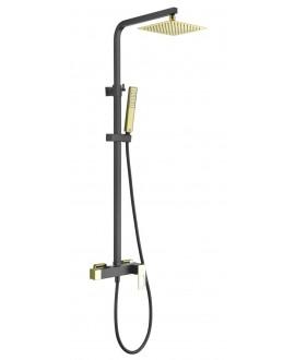columna ducha suecia negro oro