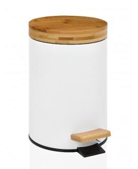 papelera blanca madera