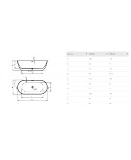medidas bañera trento