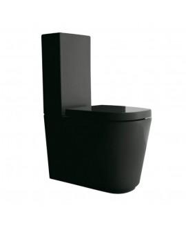inodoro negro compacto