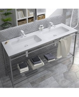 lavabo porcelana 2 senos