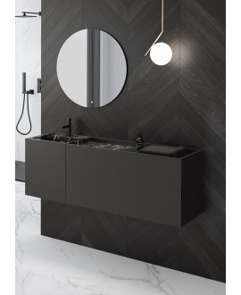 mueble baño negro