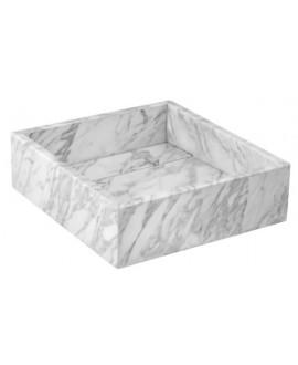 lavabo sobre encimera marmol natural