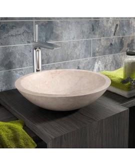 lavabo marmol crema