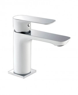 monomando lavabo blanco