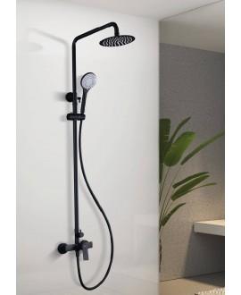 columna ducha negra
