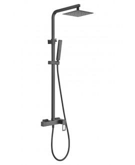 columna ducha suecia negra