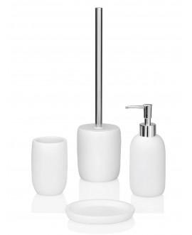 accesorios baño blancos