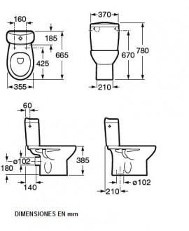 medidas de un inodoro