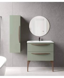 mueble baño verde