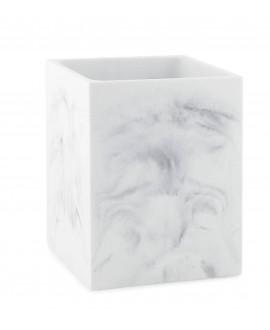 papelera marmol blanco
