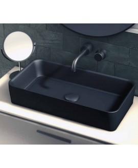 lavabo rectangular negro
