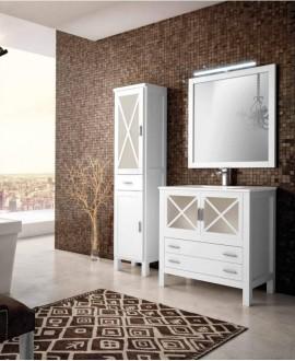 mueble rustico blanco